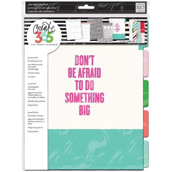 Me & My Big Ideas Happy Planner BIG Planner Extension Pack 6-Month Undated Weekly