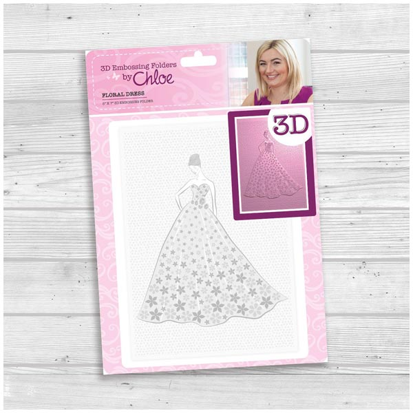 3D Embossing Folder by Chloe Floral Dress