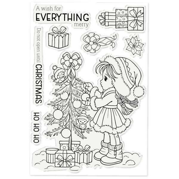 Crafter's Companion Conie Fong 4in x 6in Stamp Set Sally's Christmas Friends | Set of 8 Conie Fong Christmas